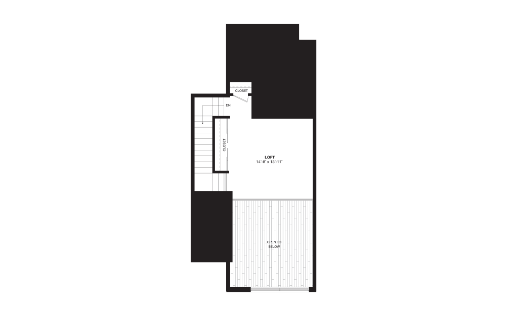 A12L - 1 bedroom floorplan layout with 1 bath and 1130 square feet. (Floor 2)