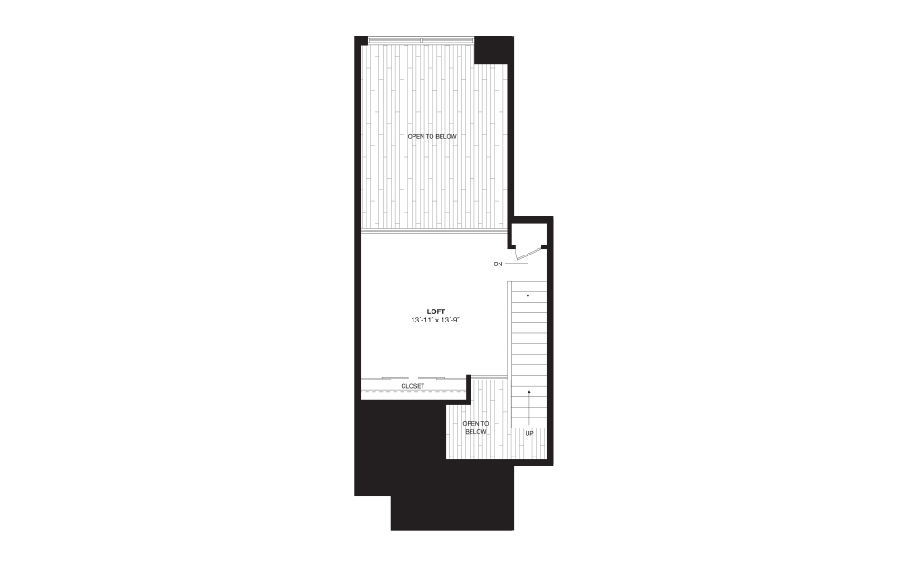 A9L - 1 bedroom floorplan layout with 1 bath and 975 square feet. (Floor 2)
