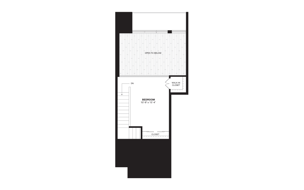 S8L - 1 bedroom floorplan layout with 1 bath and 722 square feet. (Floor 2)