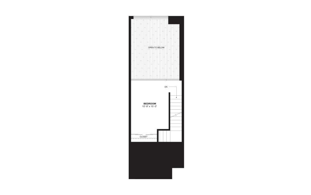 S9AL - 1 bedroom floorplan layout with 1 bath and 888 square feet. (Floor 2)