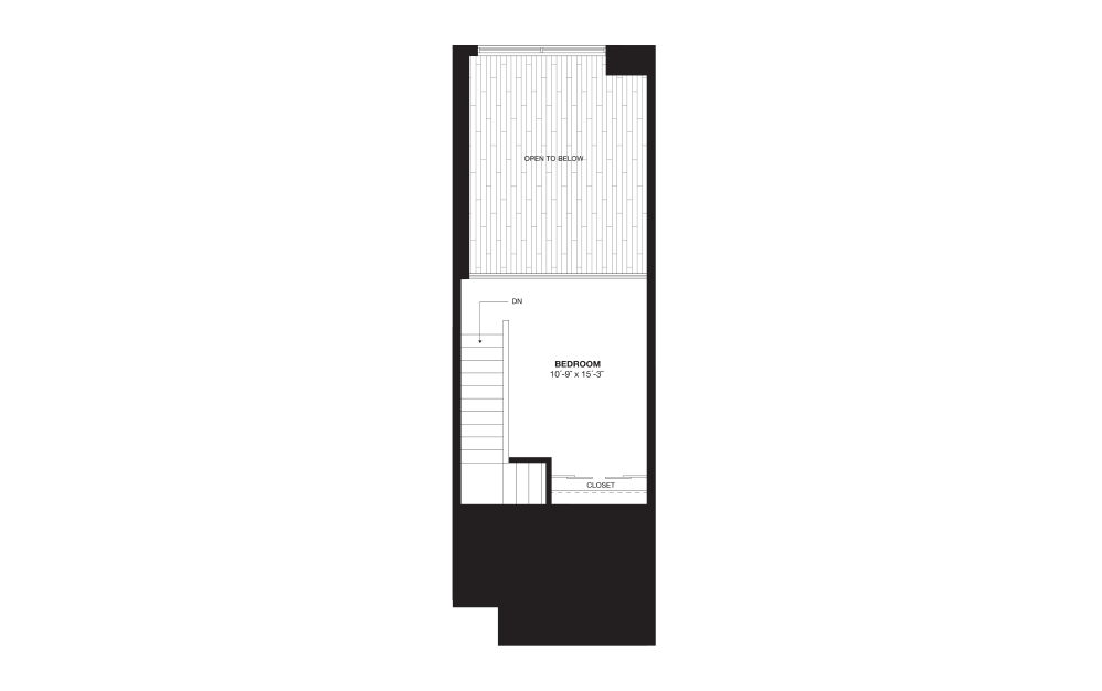 S9BL - 1 bedroom floorplan layout with 1 bath and 888 square feet. (Floor 2)